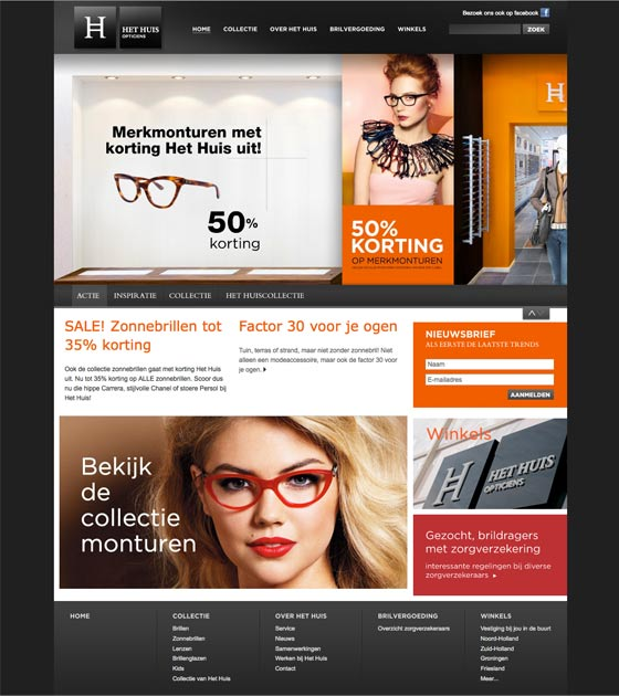 Het Huis Opticiens - Eye Wish website screenshot